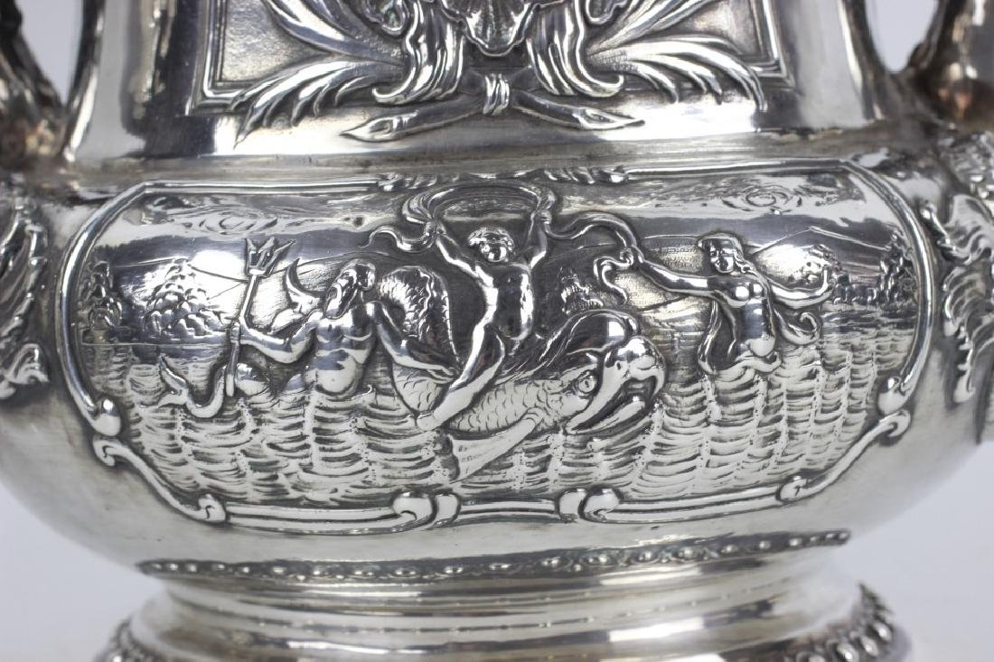 Unusual Sterling Silver Wine Cooler - 8