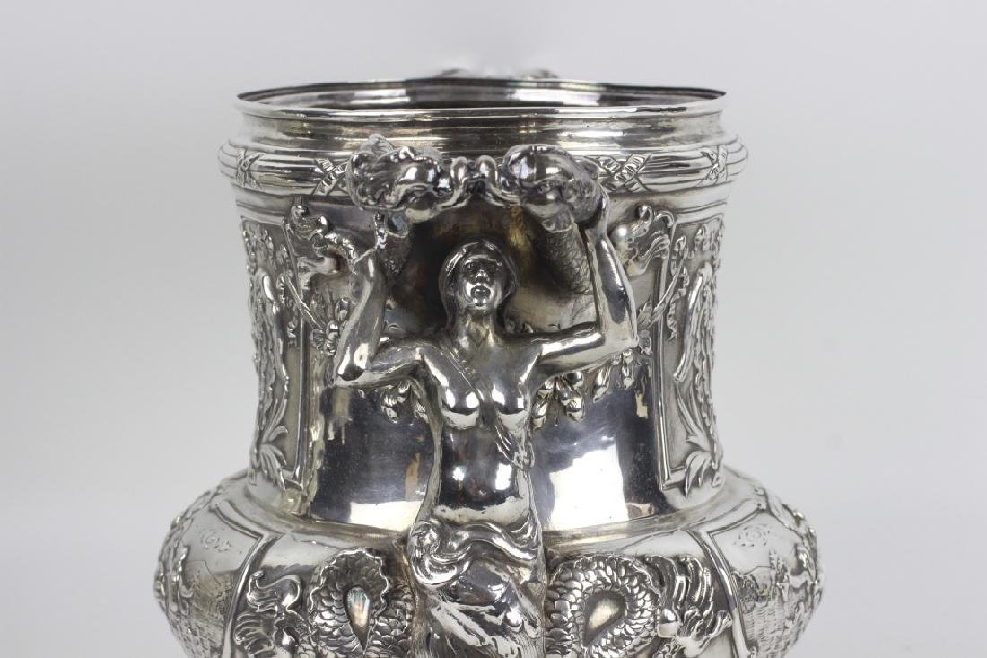 Unusual Sterling Silver Wine Cooler - 9