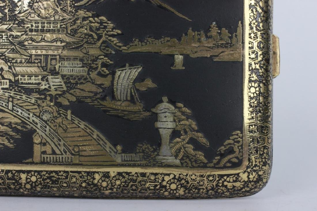 Japanese Mixed Metal Cigarette Box, Komei - 2