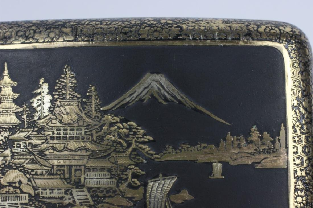 Japanese Mixed Metal Cigarette Box, Komei - 4
