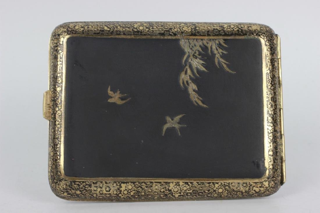 Japanese Mixed Metal Cigarette Box, Komei - 5