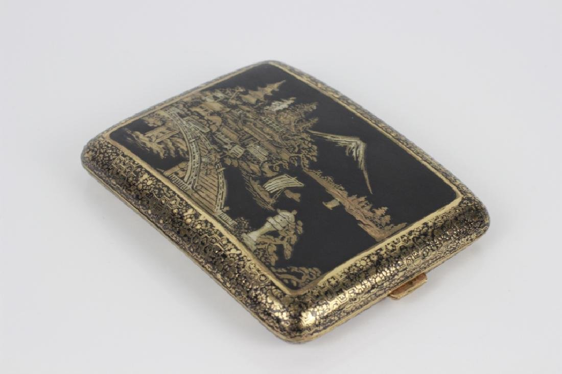 Japanese Mixed Metal Cigarette Box, Komei - 6