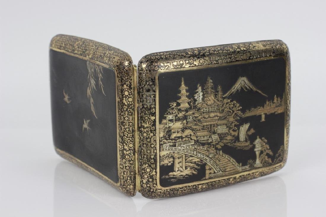 Japanese Mixed Metal Cigarette Box, Komei - 7