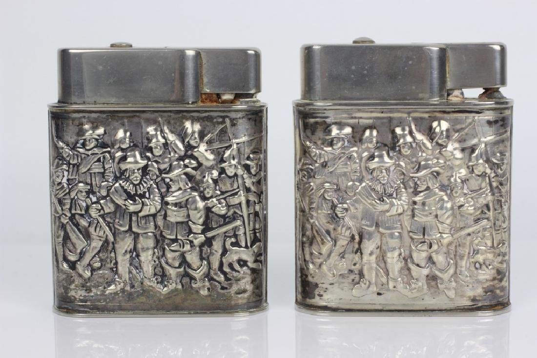 Pair of Dutch Silver Large Lighters - 2