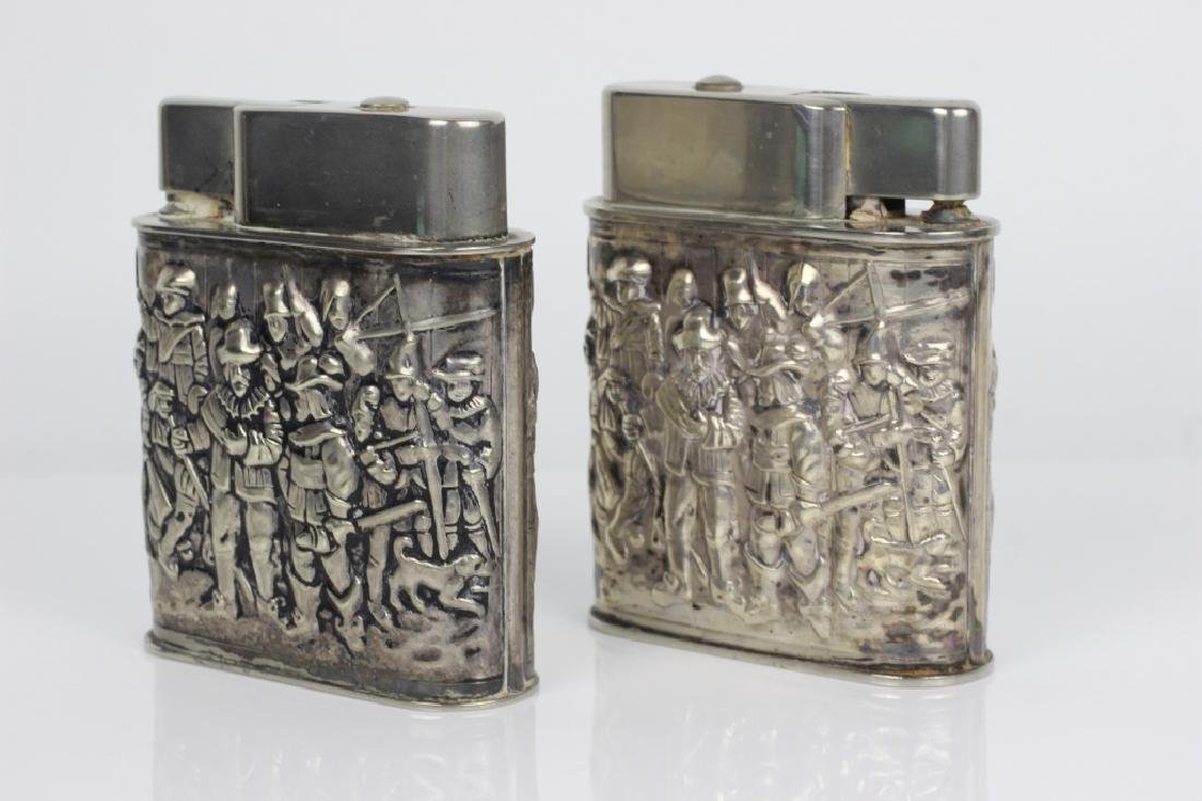 Pair of Dutch Silver Large Lighters - 3