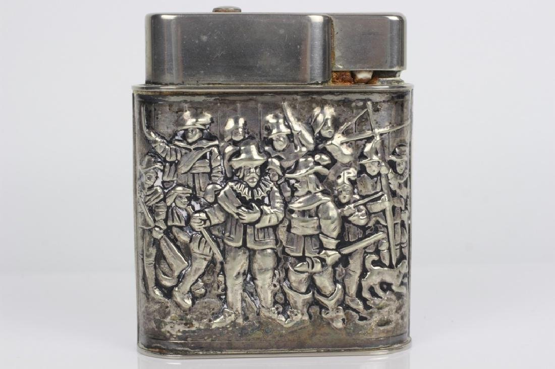 Pair of Dutch Silver Large Lighters - 4