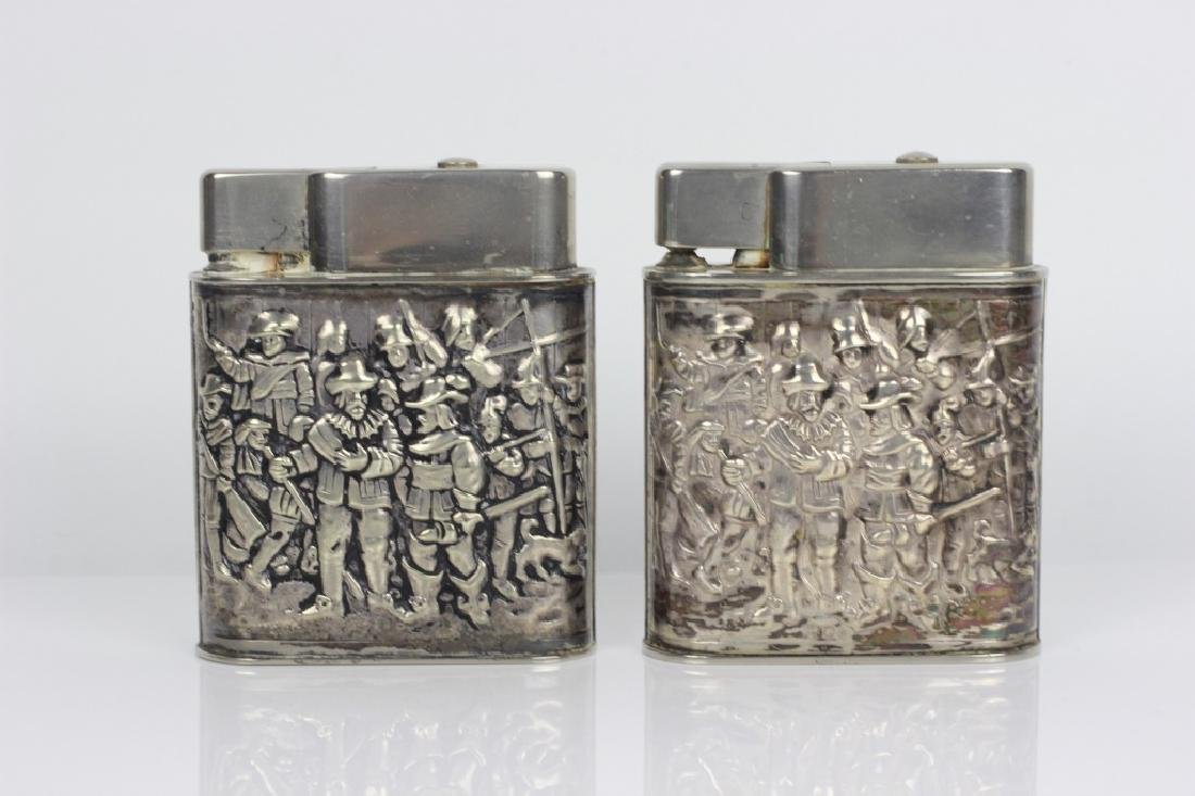 Pair of Dutch Silver Large Lighters - 7