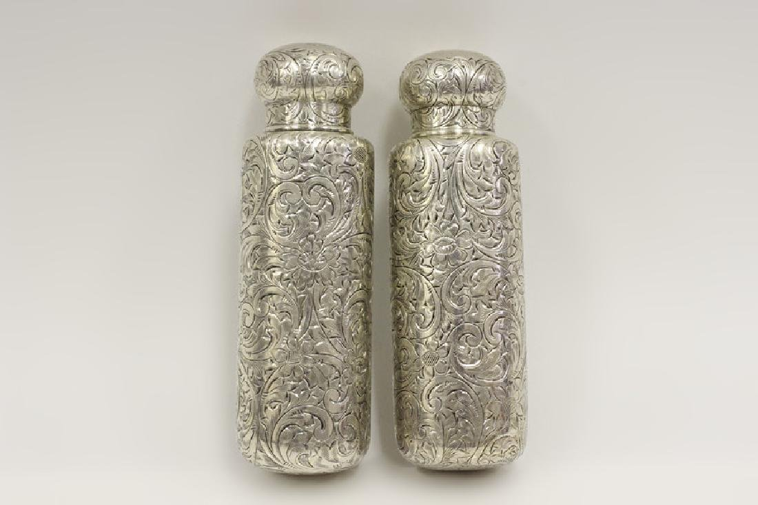Pair of Tiffany & Co. Makers Sterling Bottles