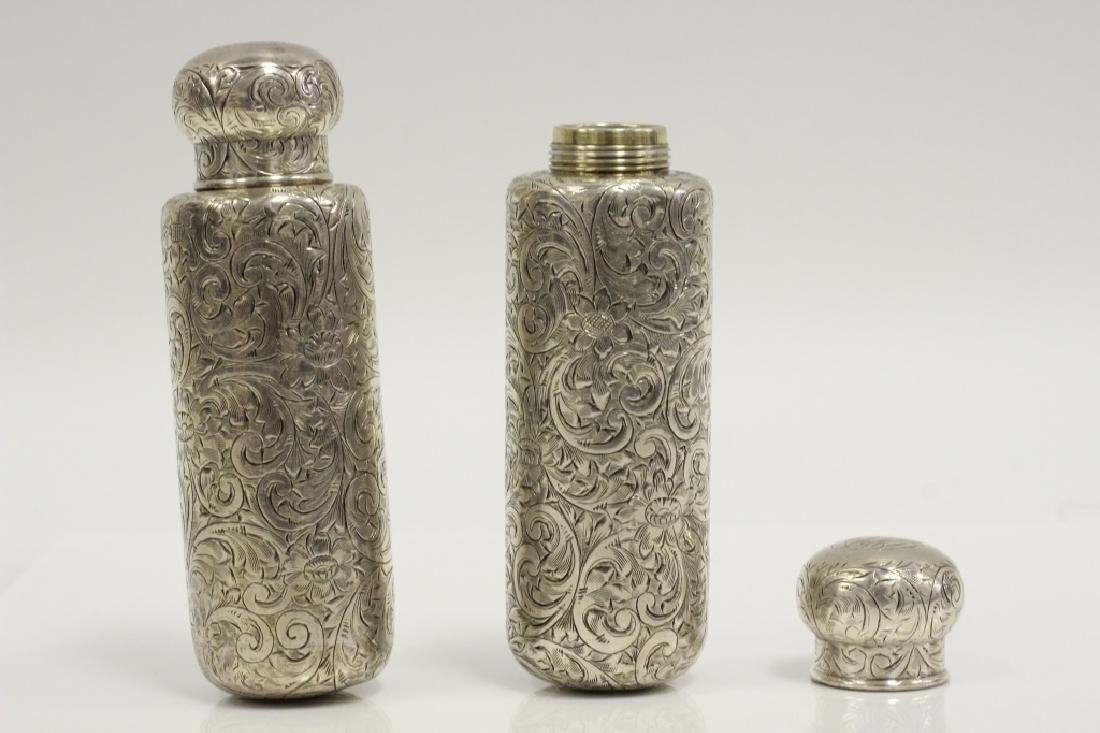 Pair of Tiffany & Co. Makers Sterling Bottles - 2