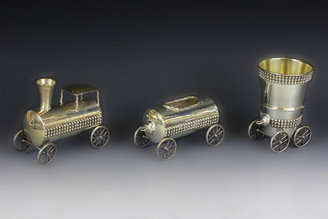 Judaica Sterling Silver Train Set - 10