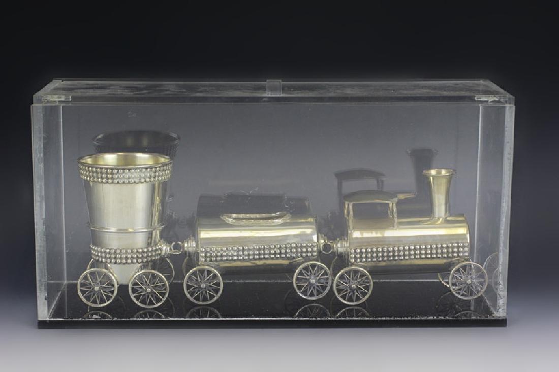 Judaica Sterling Silver Train Set