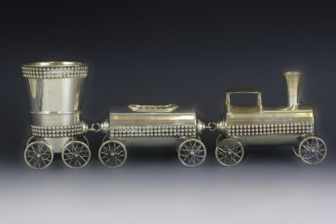 Judaica Sterling Silver Train Set - 2