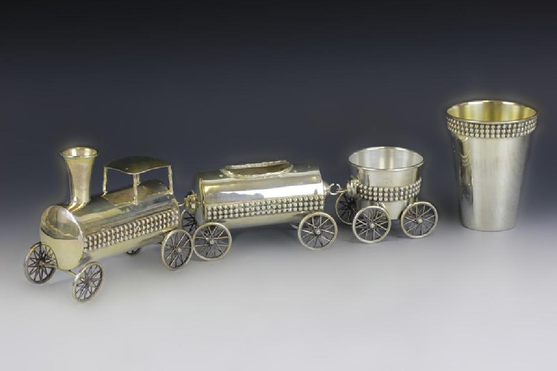 Judaica Sterling Silver Train Set - 3