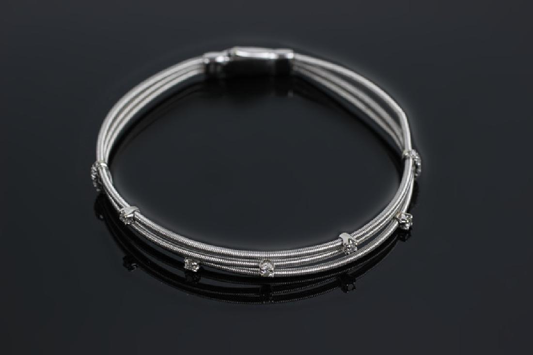 18k White Gold & Diamond Marco Bicego Bracelet - 2