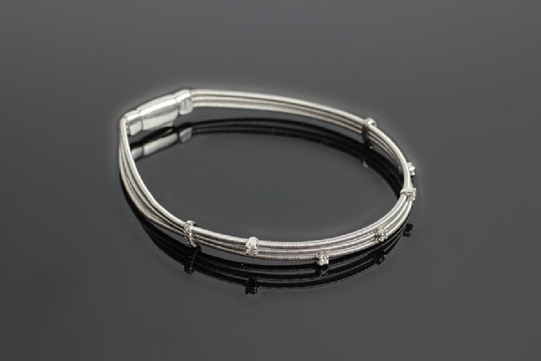 18k White Gold & Diamond Marco Bicego Bracelet - 3