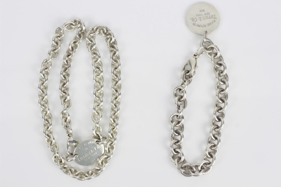 Tiffany & Co. Sterling Silver Necklace & Bracelet - 3