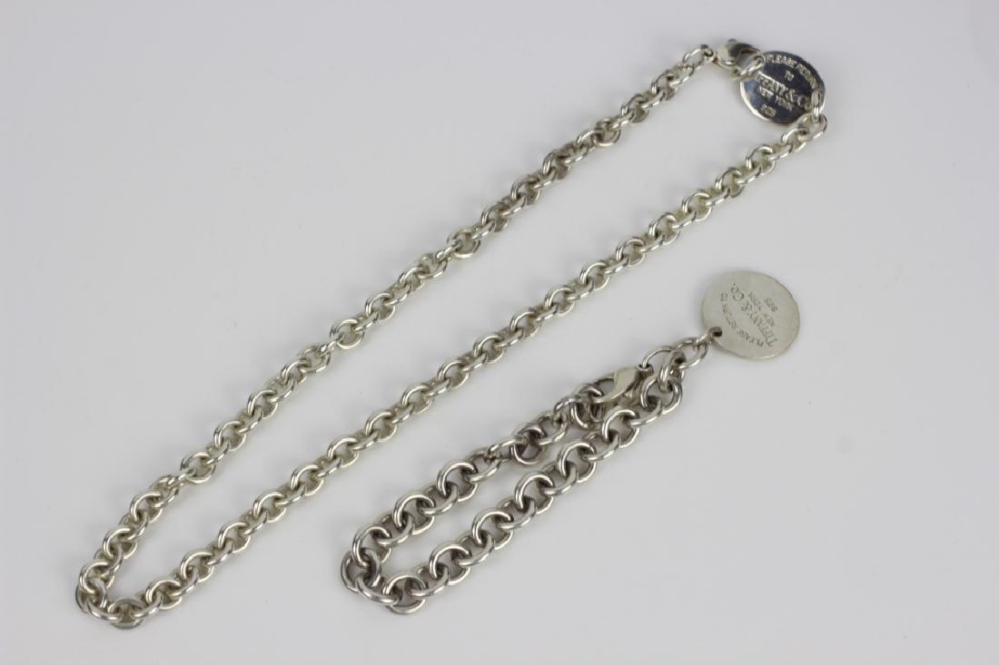Tiffany & Co. Sterling Silver Necklace & Bracelet - 4