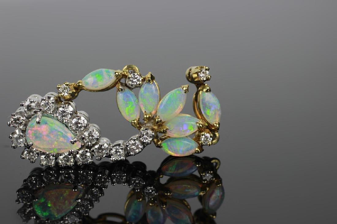 14k Gold, Diamond & Opal Pendant - 3