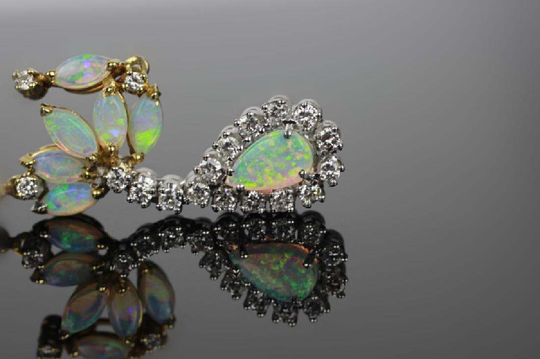 14k Gold, Diamond & Opal Pendant - 4