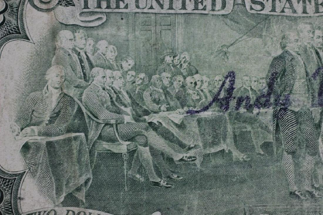 $2 Bill Signed & Stamped Andy Warhol - 3