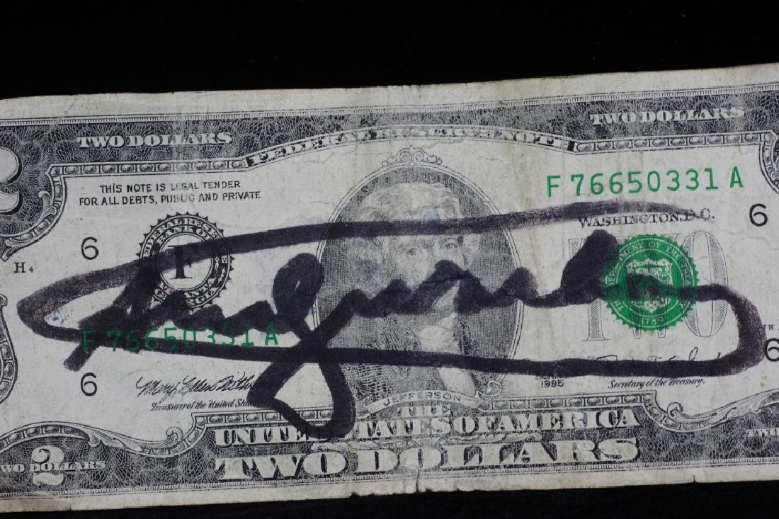 $2 Bill Signed & Stamped Andy Warhol - 4