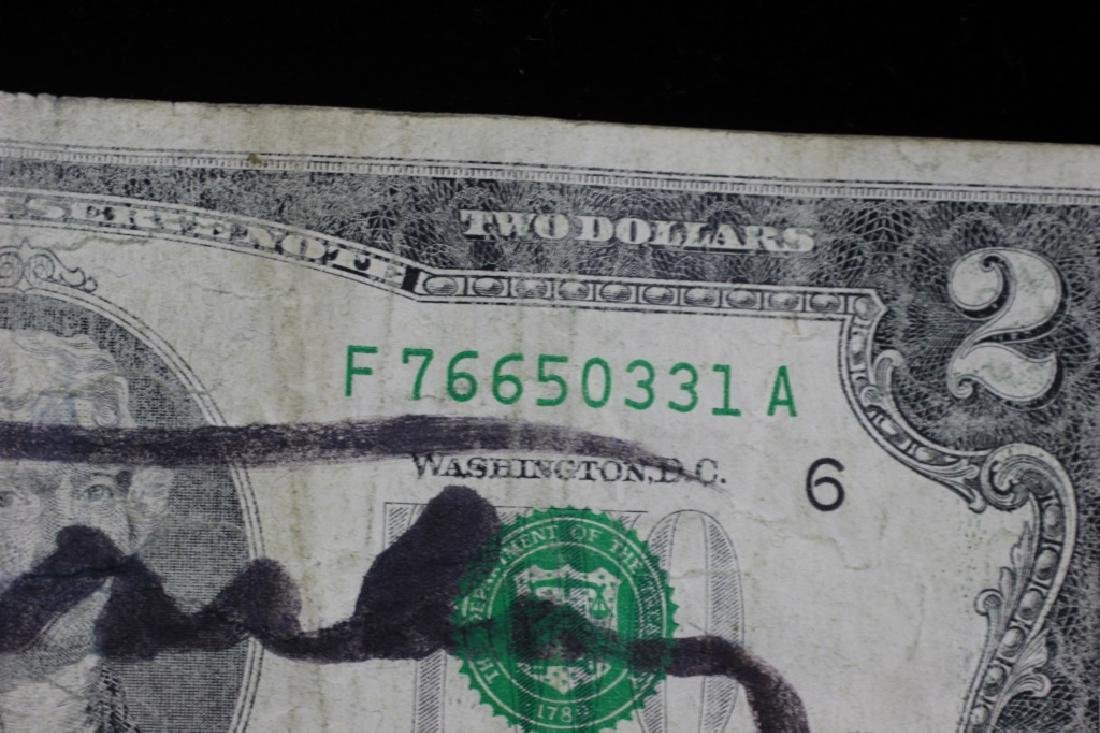 $2 Bill Signed & Stamped Andy Warhol - 5