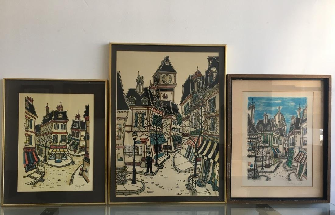 3 Lithographs, Signed Jacquest