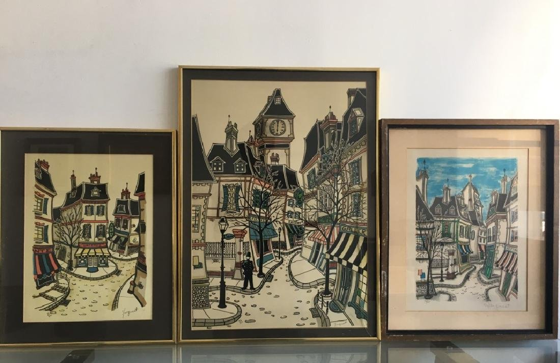 3 Lithographs, Signed Jacquest - 2