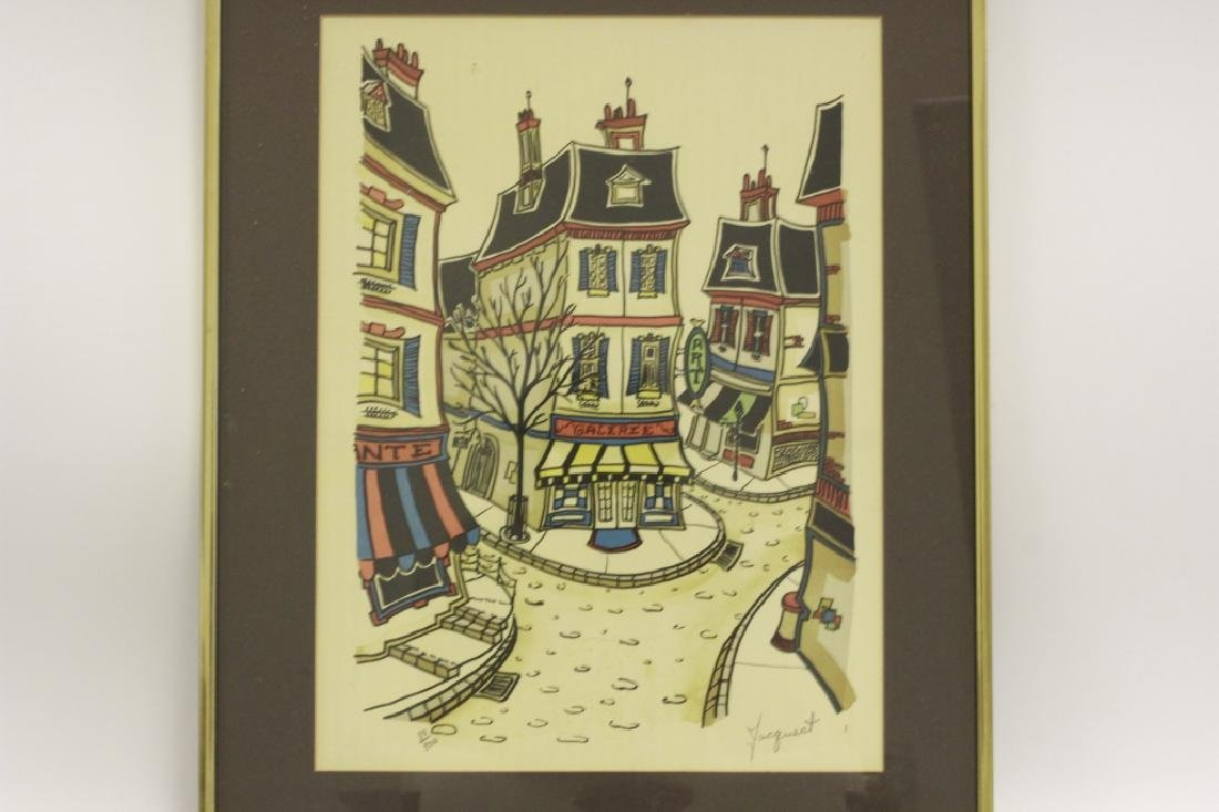 3 Lithographs, Signed Jacquest - 3