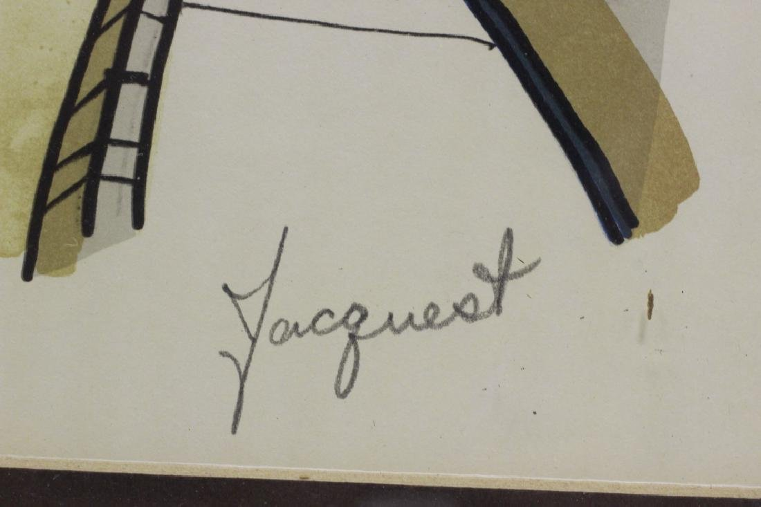 3 Lithographs, Signed Jacquest - 5