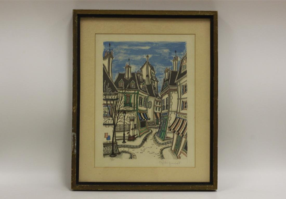3 Lithographs, Signed Jacquest - 8