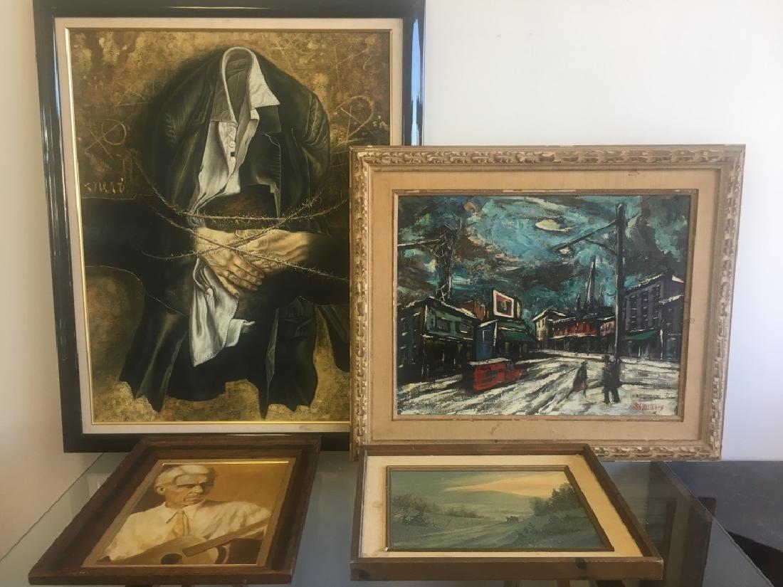 O/C Harry Shoulberg, NY (1903-1995) & 3 other O/C