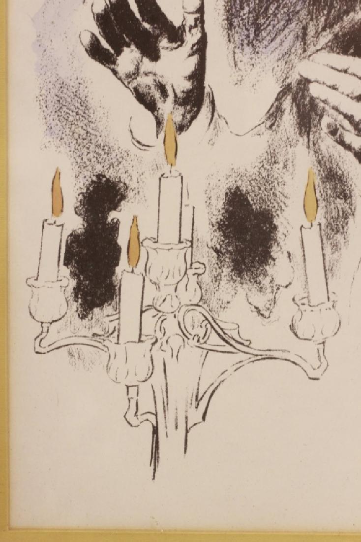 3 Judaica Lithographs, Including Moshe Gat - 5