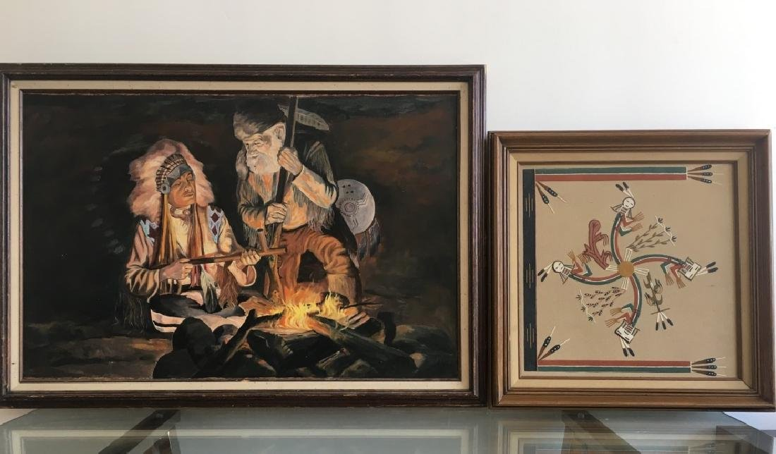 2 Native American Subject Paintings