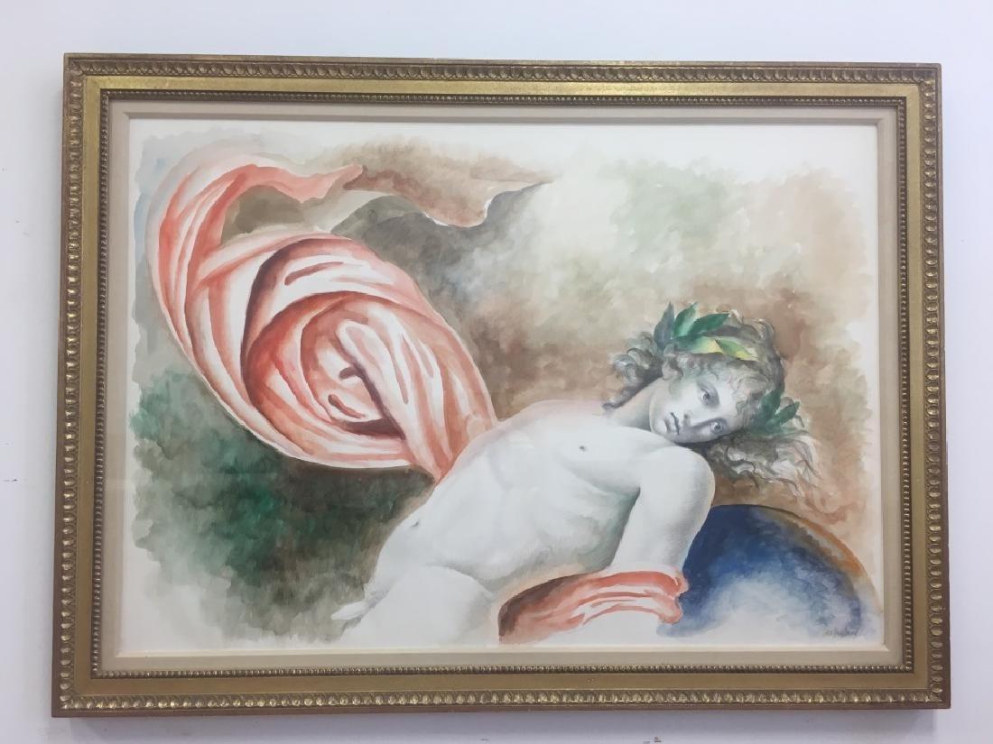 Carlo Maria Mariani, (Born 1931) Large Watercolor