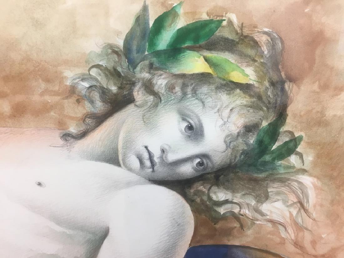 Carlo Maria Mariani, (Born 1931) Large Watercolor - 2