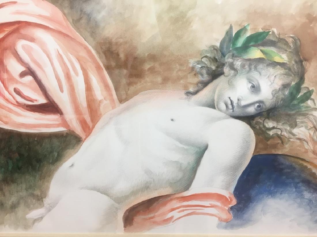 Carlo Maria Mariani, (Born 1931) Large Watercolor - 4