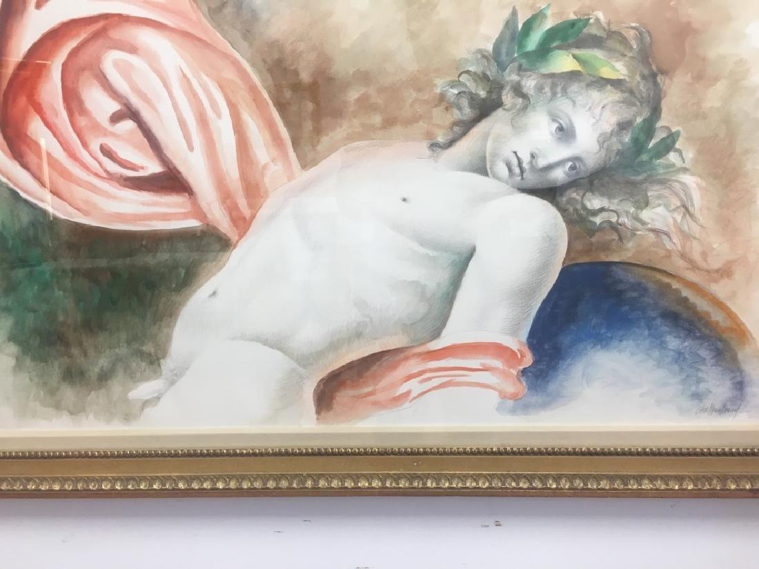 Carlo Maria Mariani, (Born 1931) Large Watercolor - 6