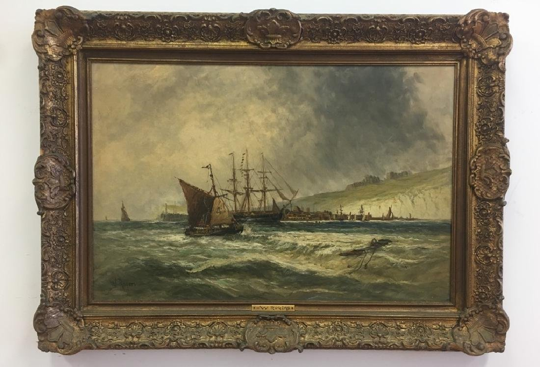 William P. Rogers, Irish (1842-1872), O/C Seascape