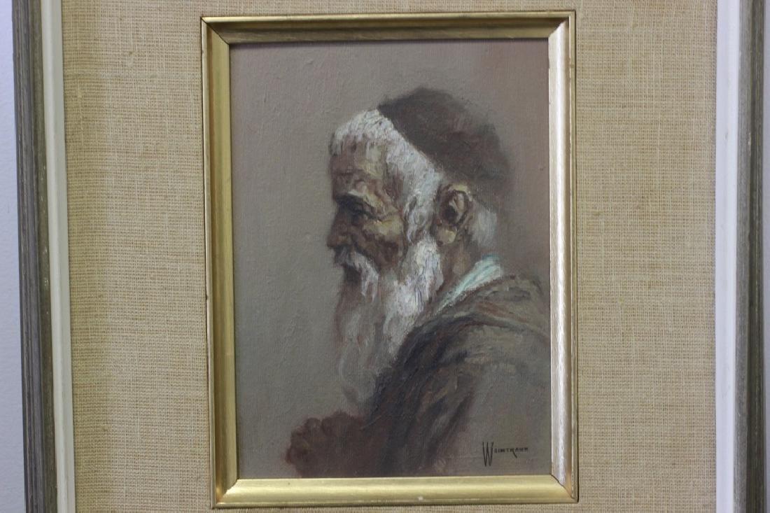 William Sunny Weintraub, 2 Oil on Board Judaica - 5