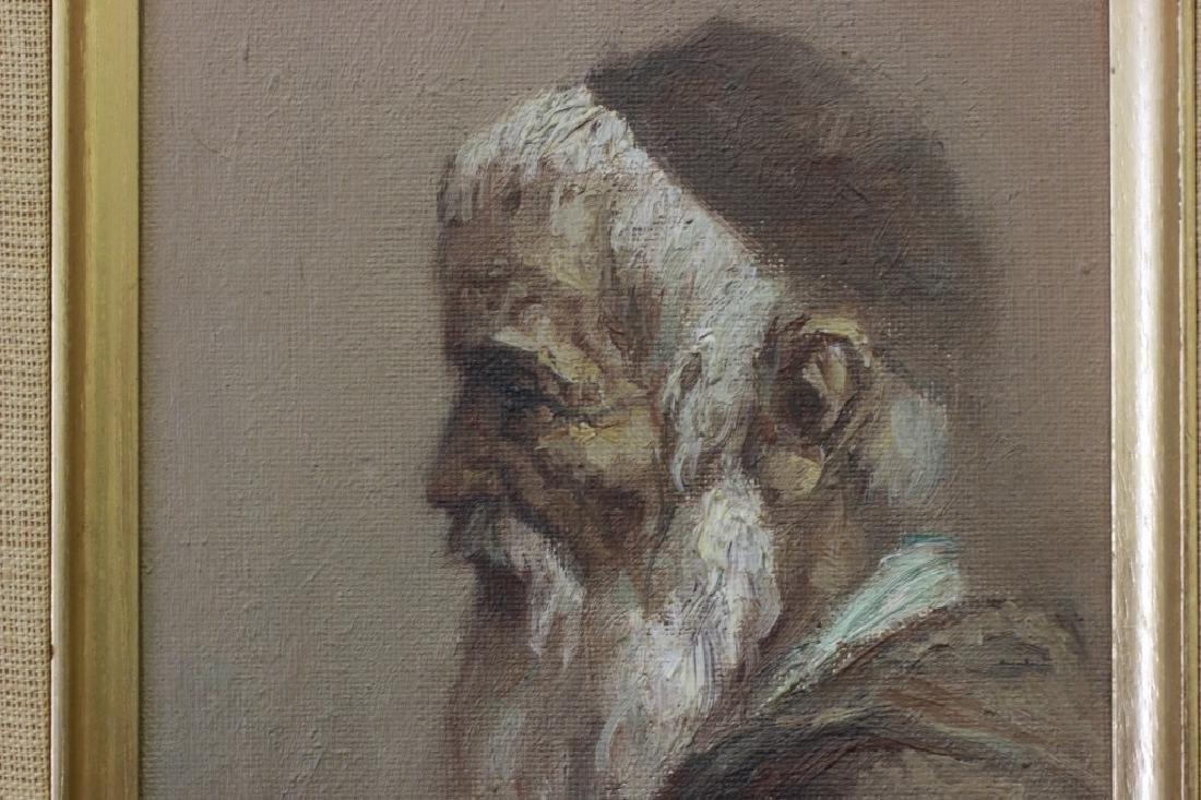 William Sunny Weintraub, 2 Oil on Board Judaica - 7