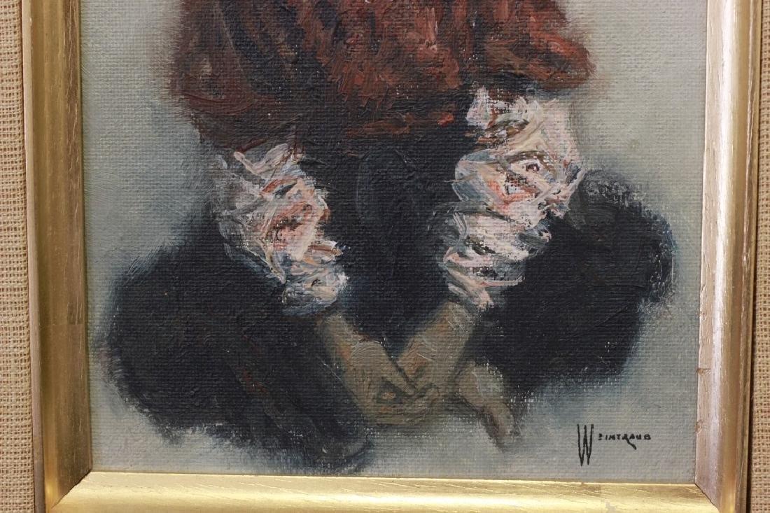 William Sunny Weintraub, 2 Oil on Board Judaica - 8