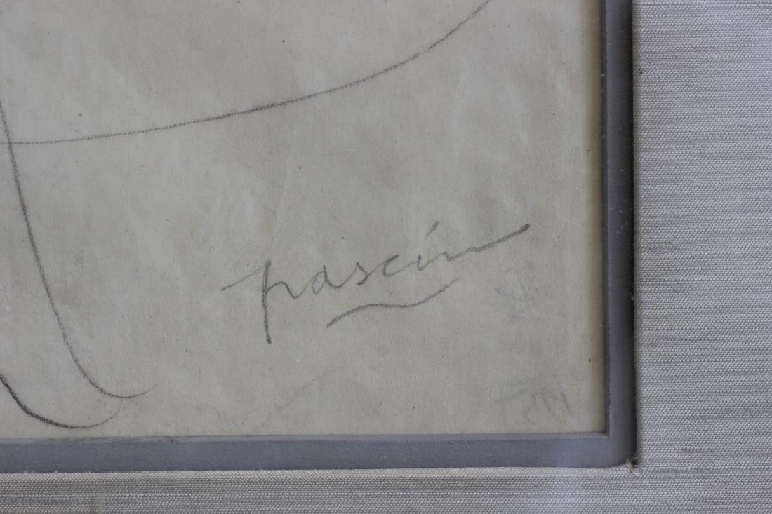 """Jules Pascin Pencil Drawing, """"Le Repos du Modele"""" - 2"""