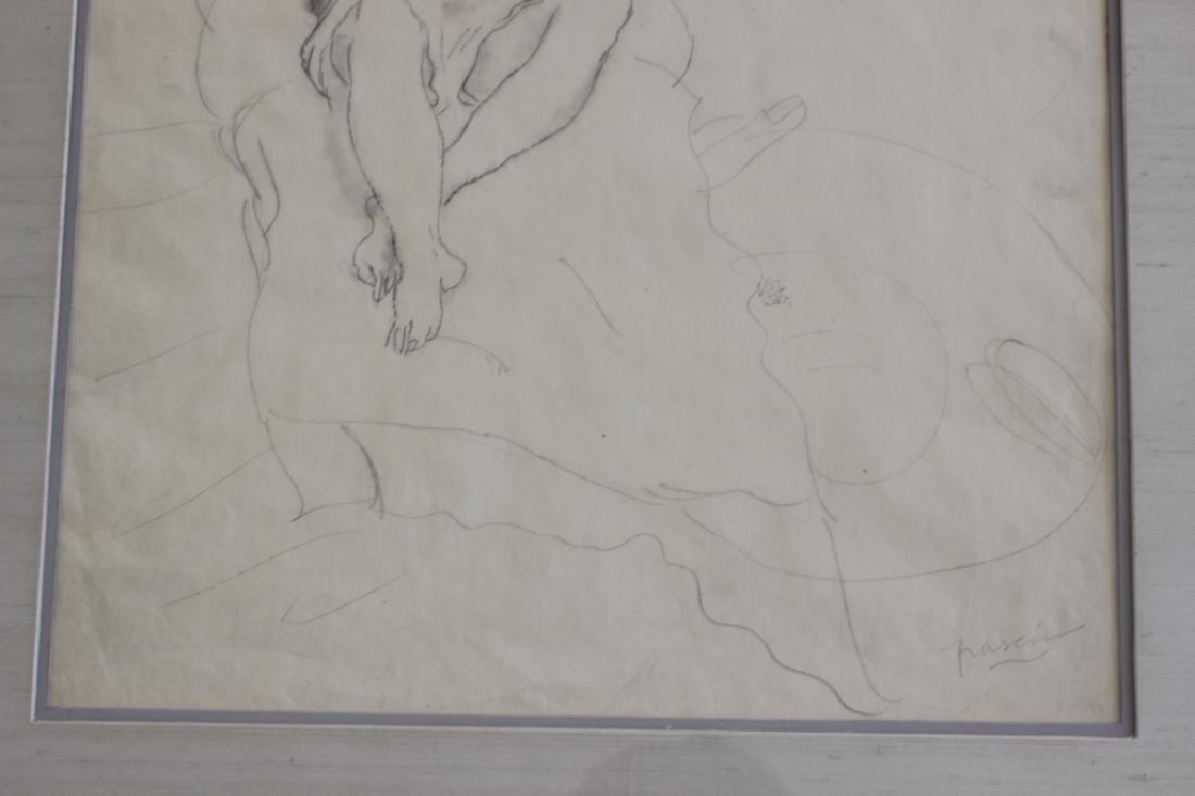 """Jules Pascin Pencil Drawing, """"Le Repos du Modele"""" - 8"""
