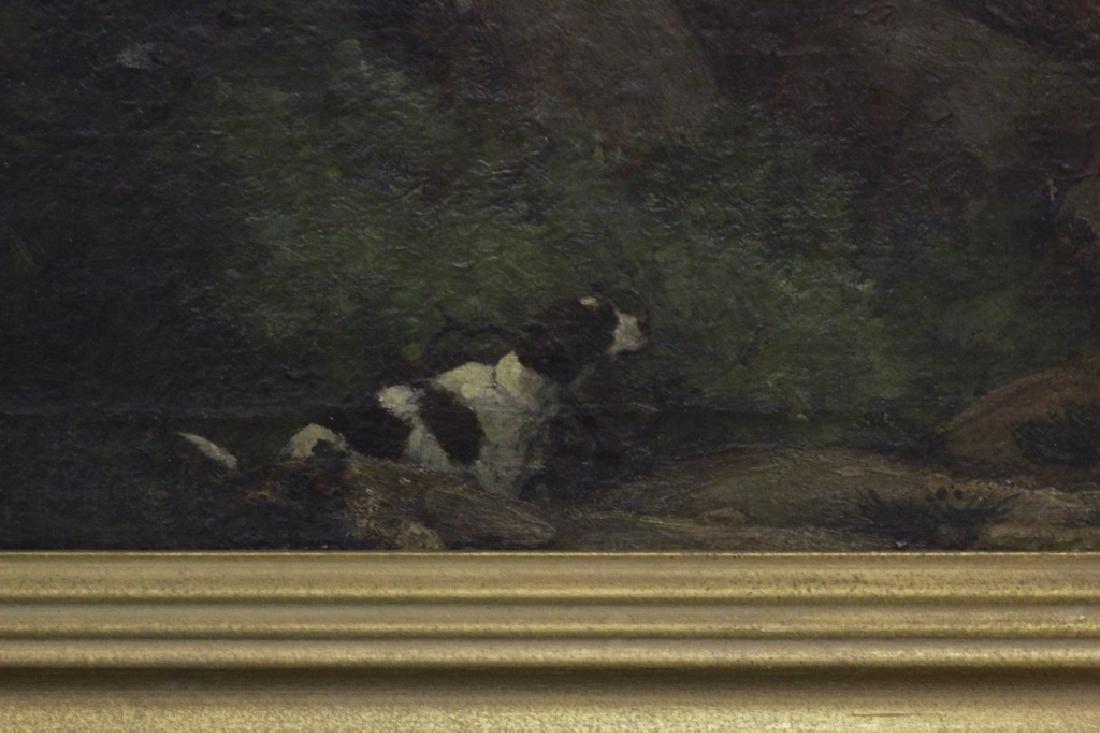 19thc O/B Man w/ Dog. Attributed to Gustav Courbet - 5
