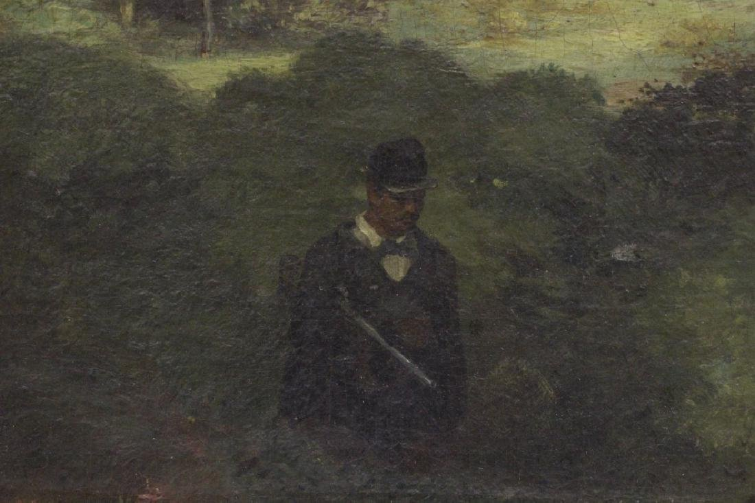 19thc O/B Man w/ Dog. Attributed to Gustav Courbet - 6