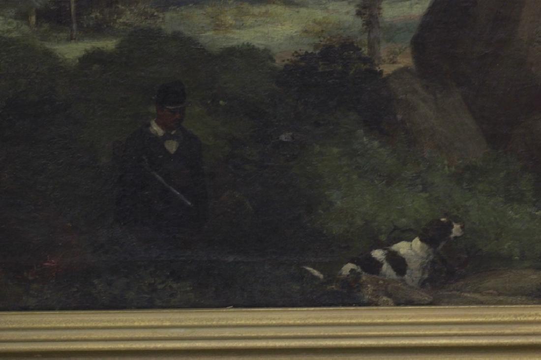 19thc O/B Man w/ Dog. Attributed to Gustav Courbet - 7