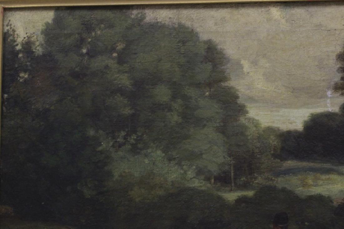 19thc O/B Man w/ Dog. Attributed to Gustav Courbet - 8