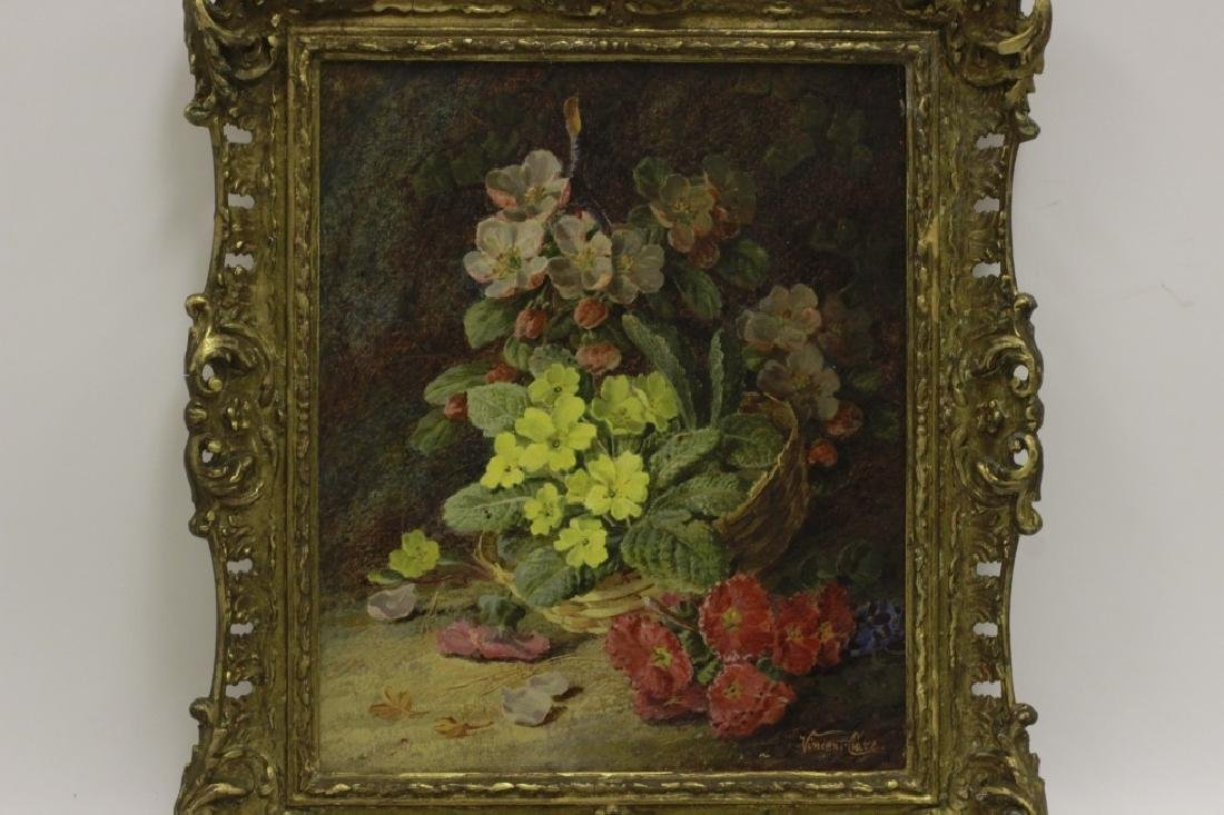 Vincent Clare, English (1855-1930) O/C Flowers - 2