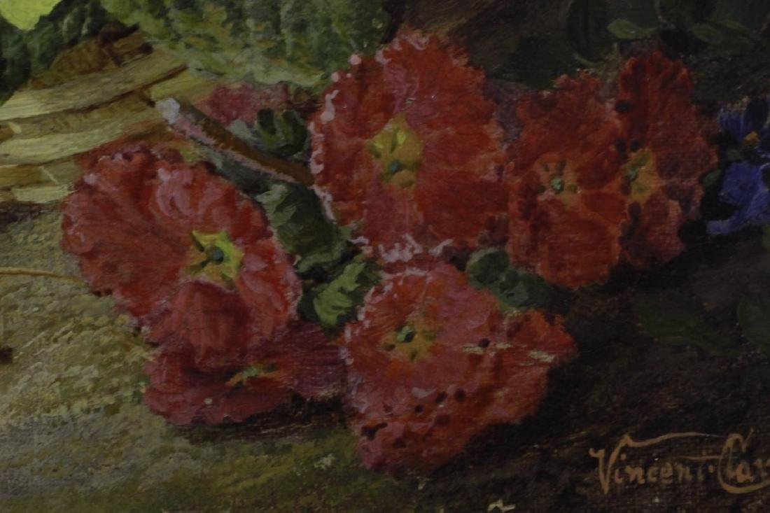 Vincent Clare, English (1855-1930) O/C Flowers - 3